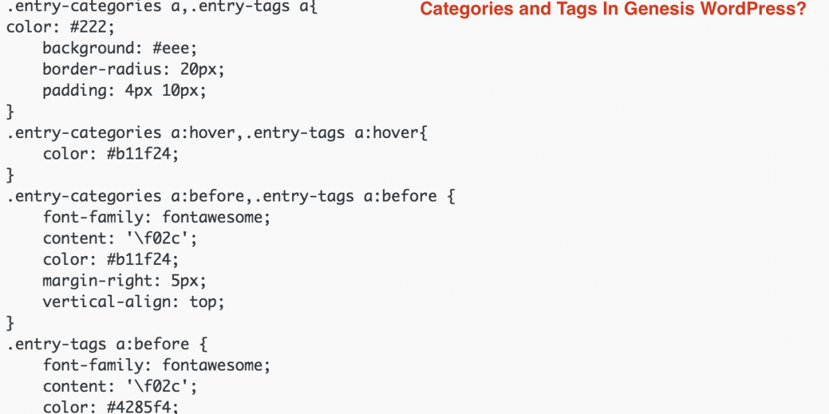 How to Remove Comma (,) Between Categories and Tags In Genesis WordPress?