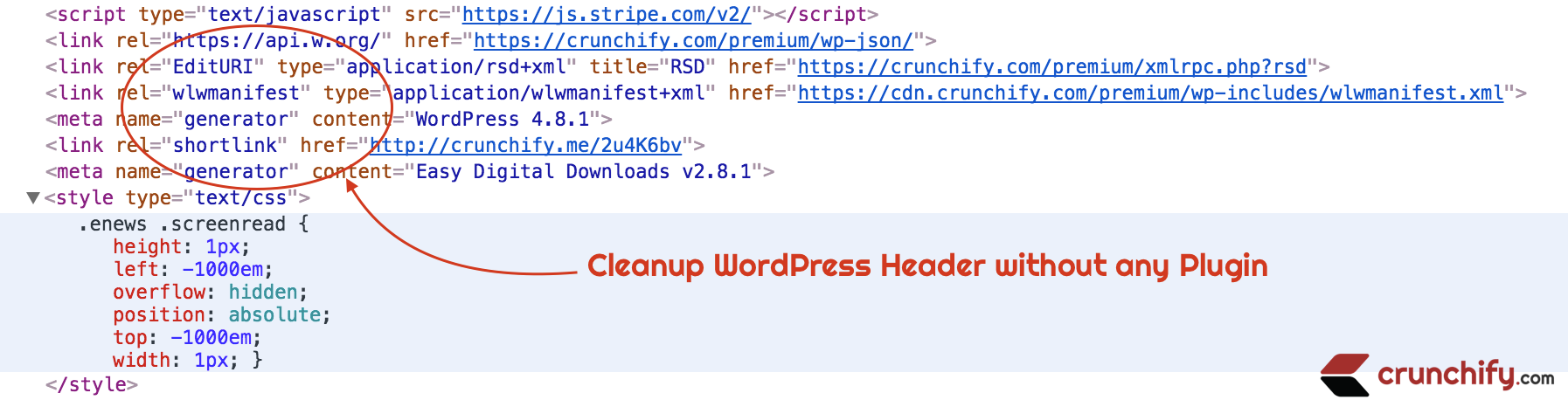 How to Clean up WordPress Header Section without any Plugin