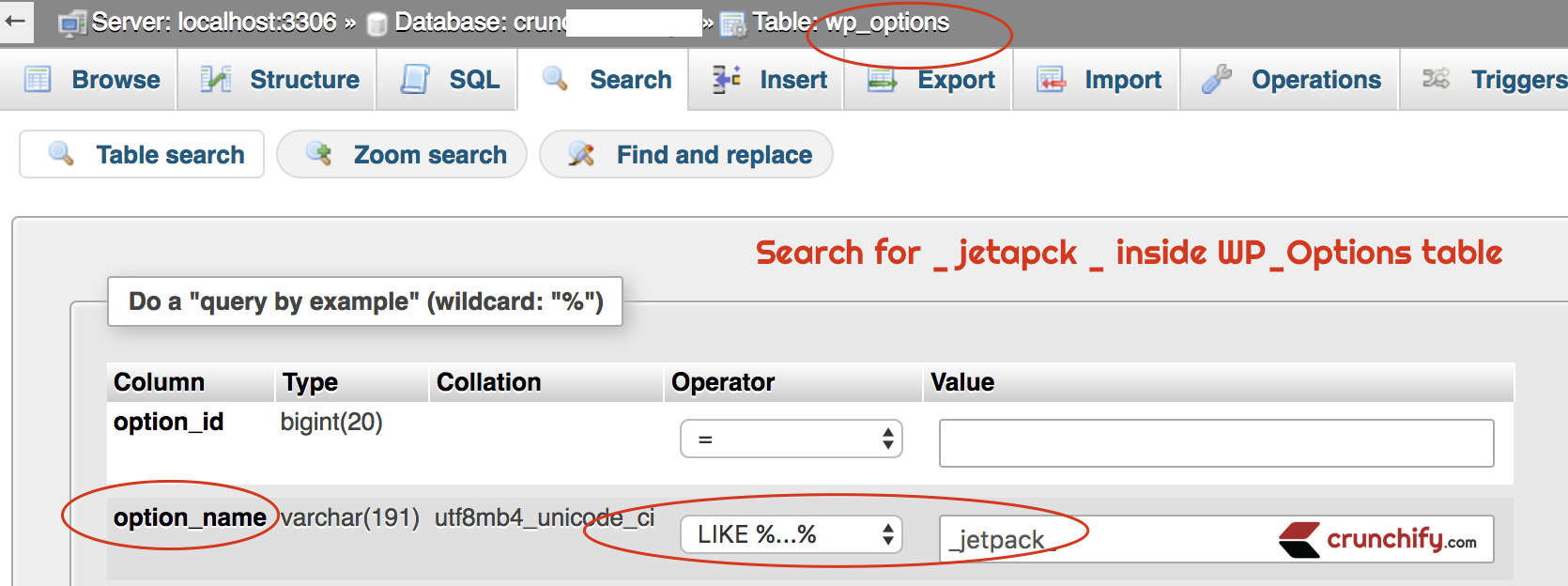 Better remove trasient jetpack thousands of records from for Table options