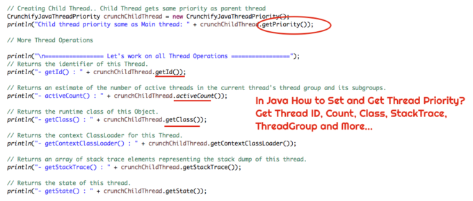 Java How to Set and Get Thread Priority