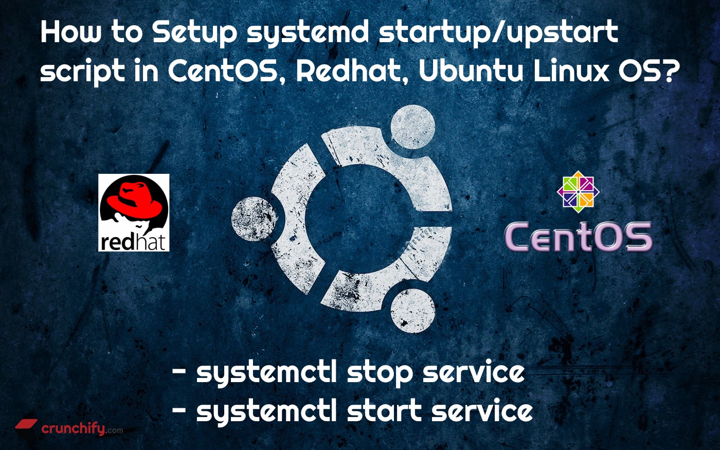 systemctl start/stop service: How to Setup Upstart Script and