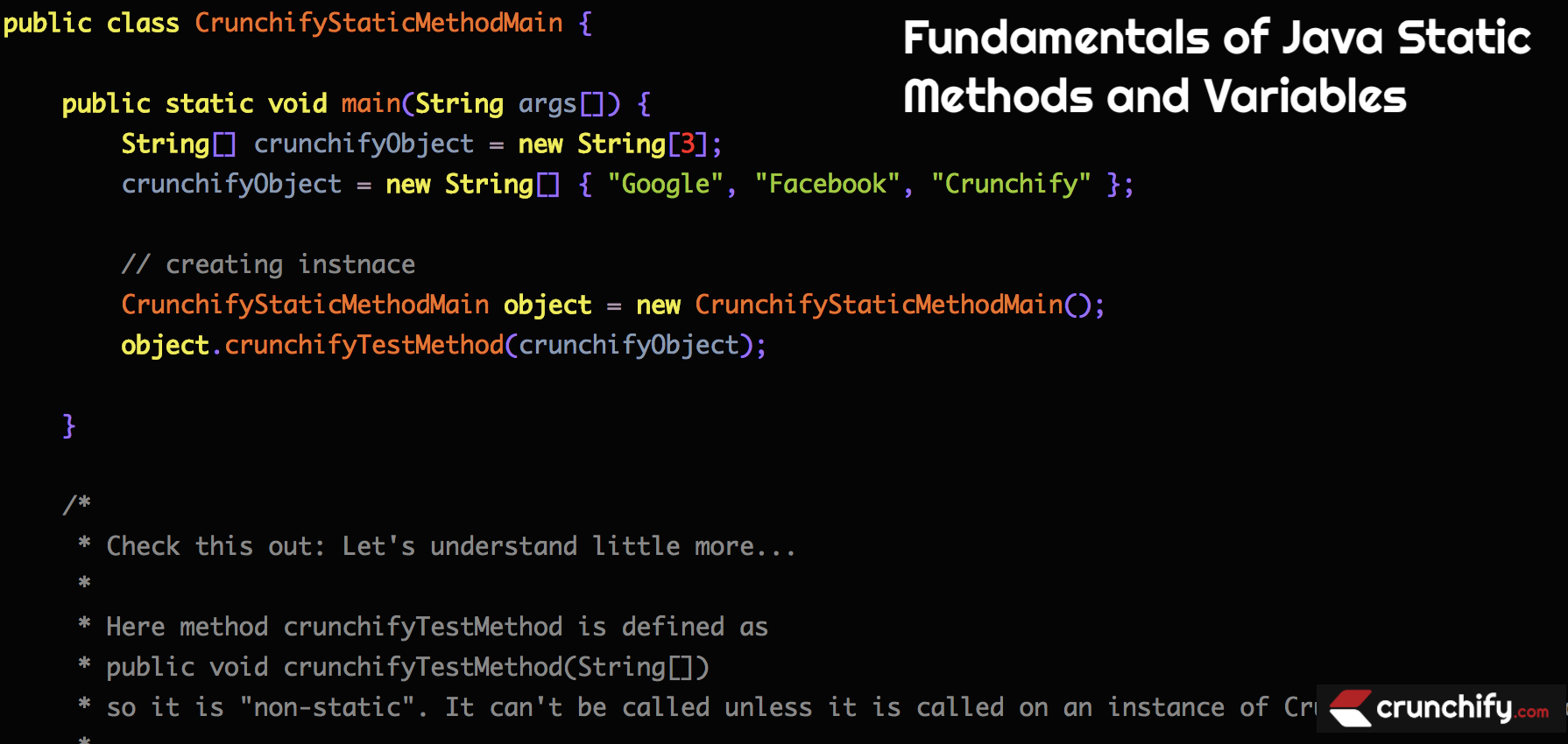 Fundamentals of Java Static Methods and Variables
