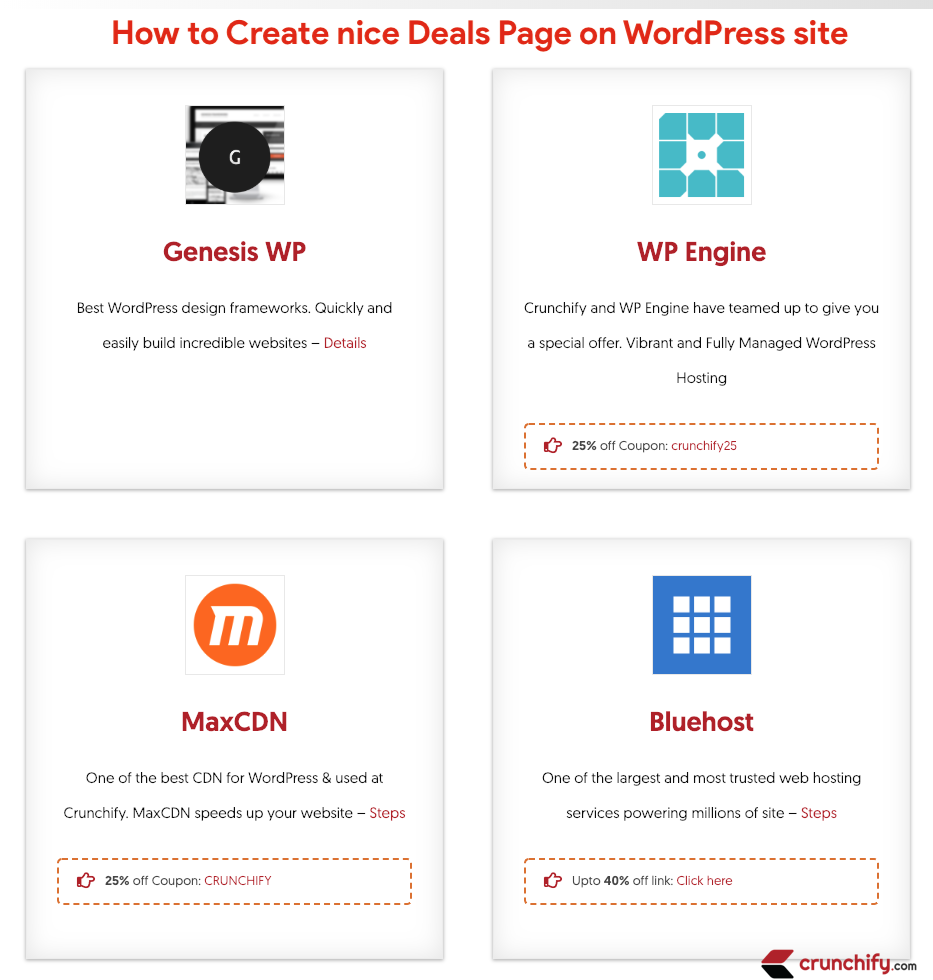 How to Create nice Deals Page on WordPress site