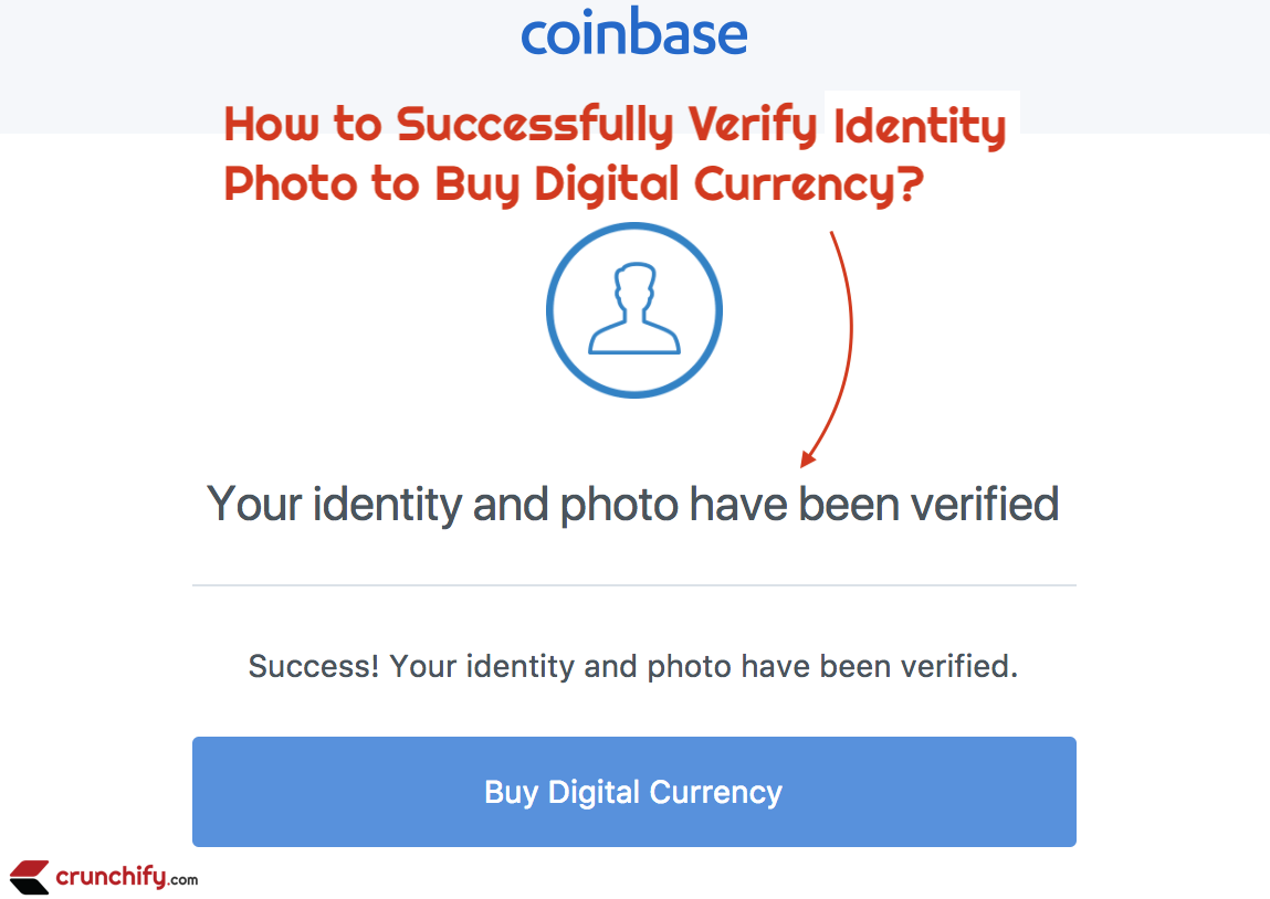 Coinbase photo and passport identity verification