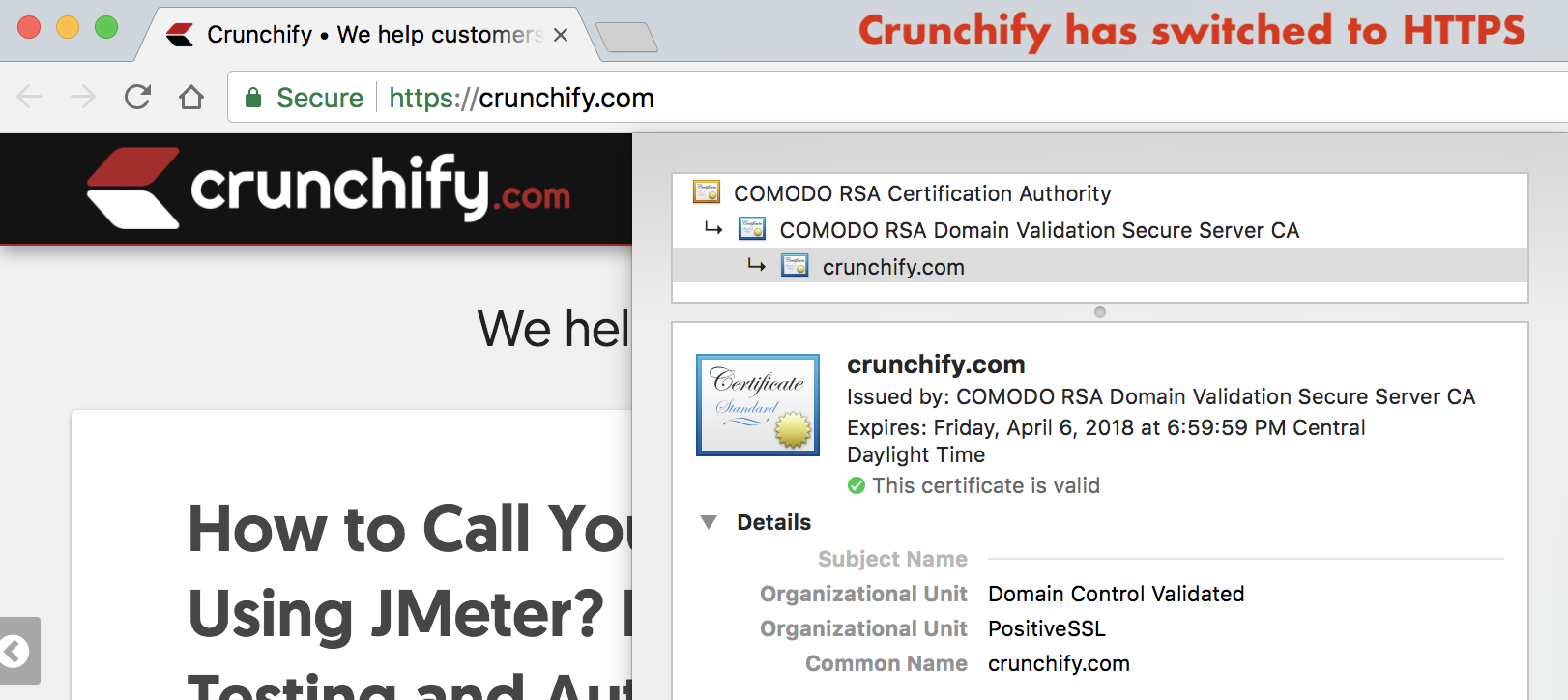 Crunchify.com has switched to HTTPS