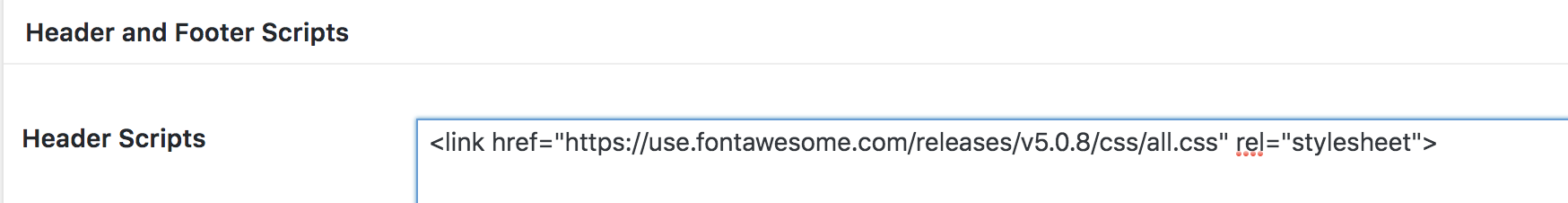 Add FontAwesome to Site Header