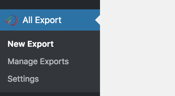 All Export Option - Plugin