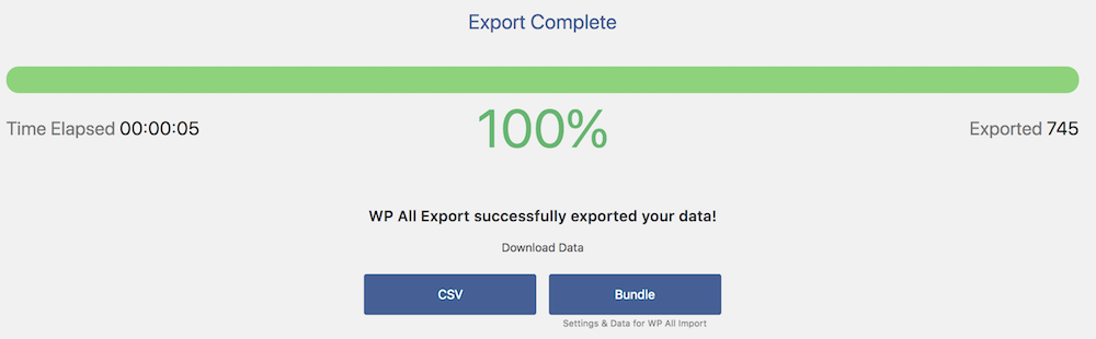 Export WordPress Post data now