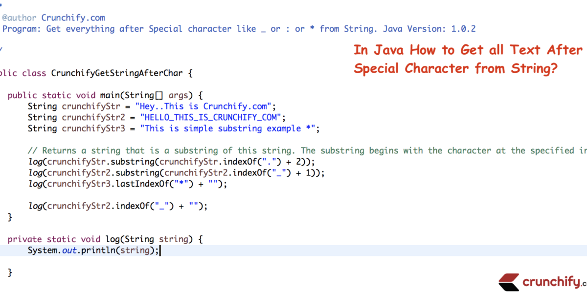 Java How to Get all Text After Special Character from String