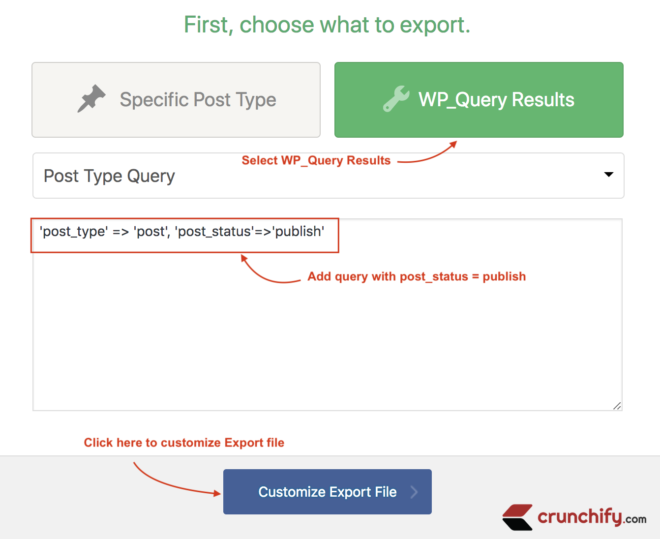 WP_Query result and customize result
