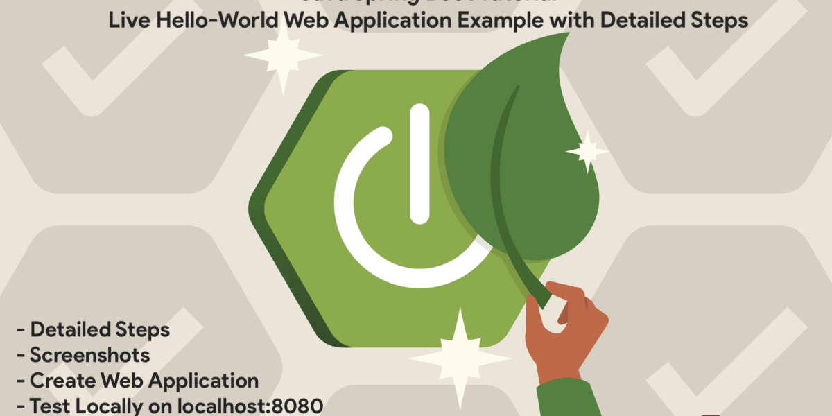 Java Spring Boot Tutorial - Live Hello-World Web Application Example