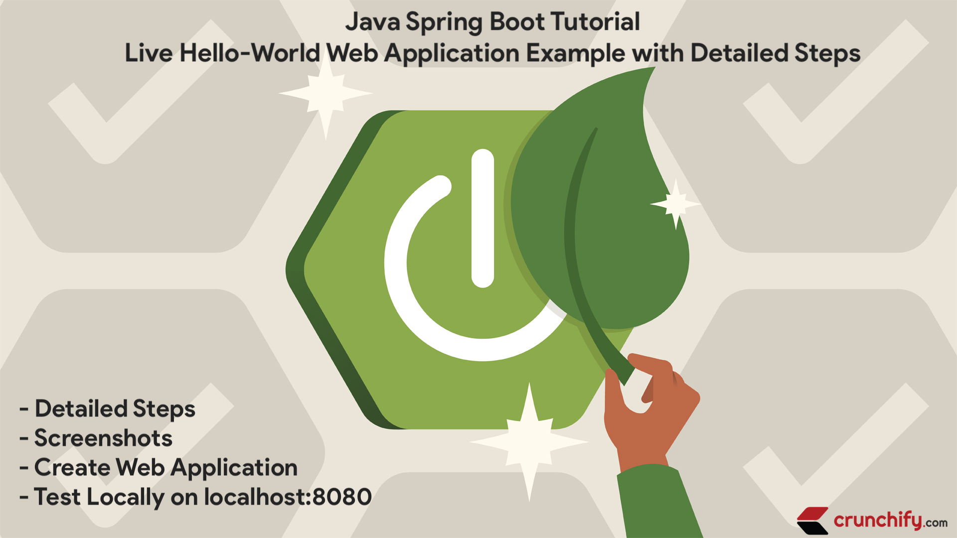 Java Spring Boot Tutorial Live Hello World Web Application Example
