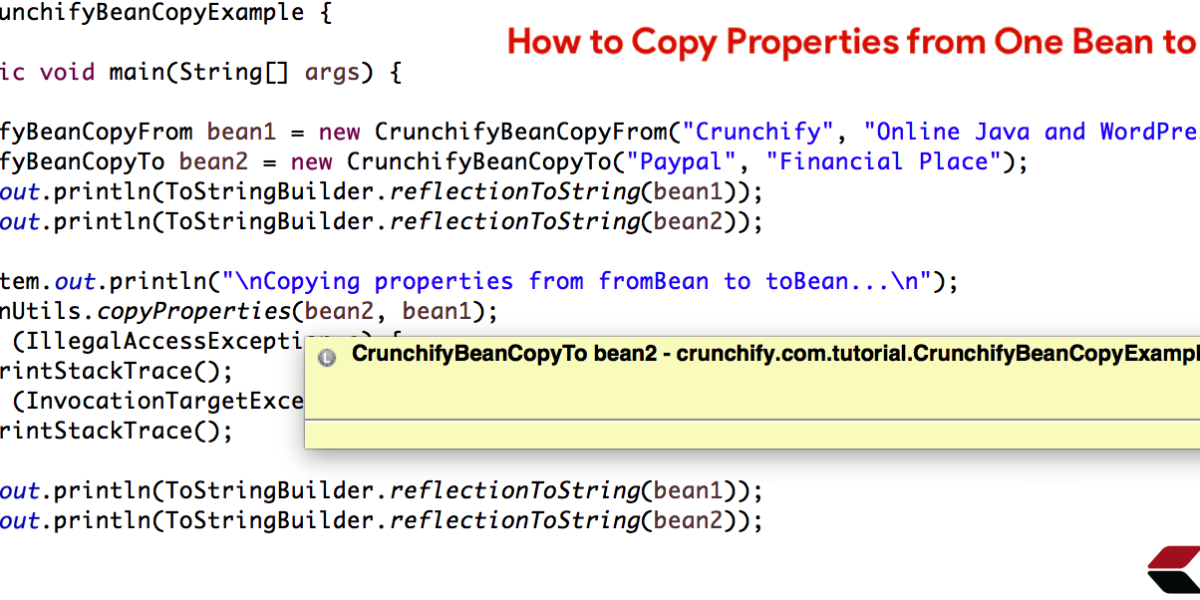 How to Copy Properties from One Bean to Another