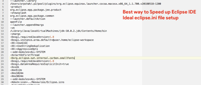 Best Practice for Eclipse.ini file