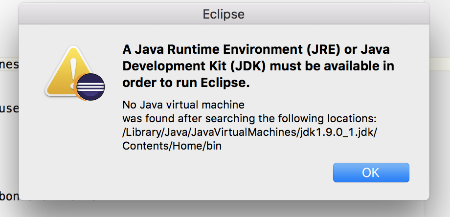 Eclipse - How to fix No Java Virtual Machine was found Error