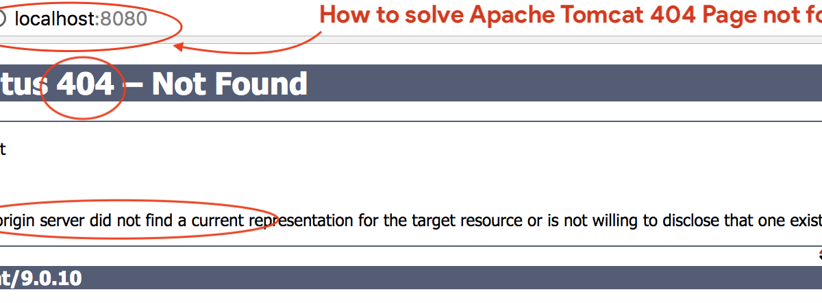 how to solve Apache Tomcat 404 Page not found error?