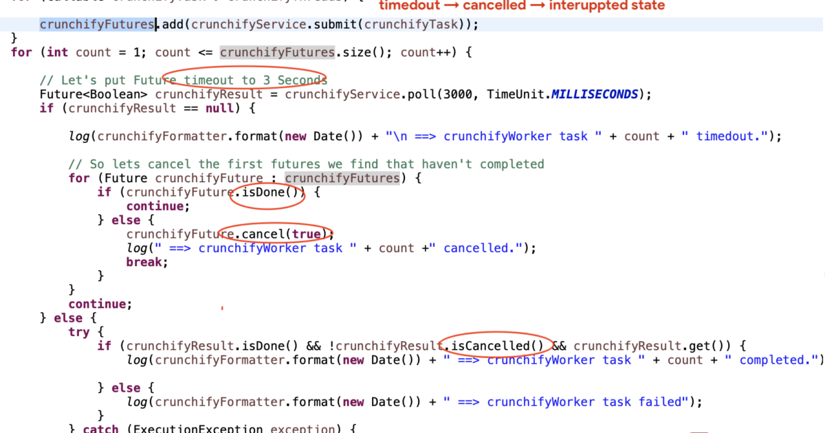 How to Kill Java Thread Taking Longer than Expected to Finish? timedout -> cancelled -> interuppted state