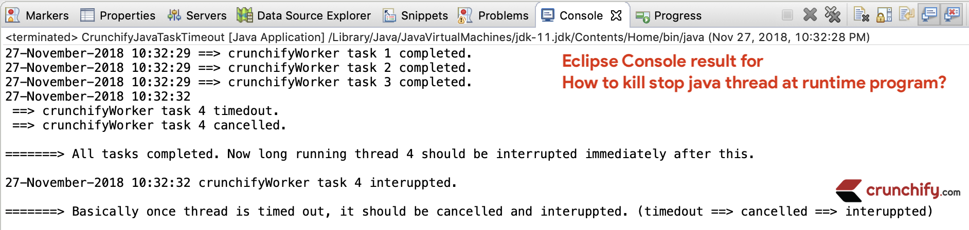 How to kill stop java thread at runtime
