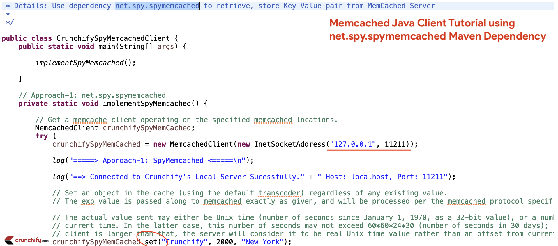 Memcached Java Client Tutorial using net.spy.spymemcached Maven