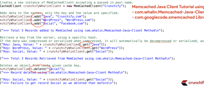 Memcached Java Client Tutorial using whalin and googlecode.xmemcached Libraries