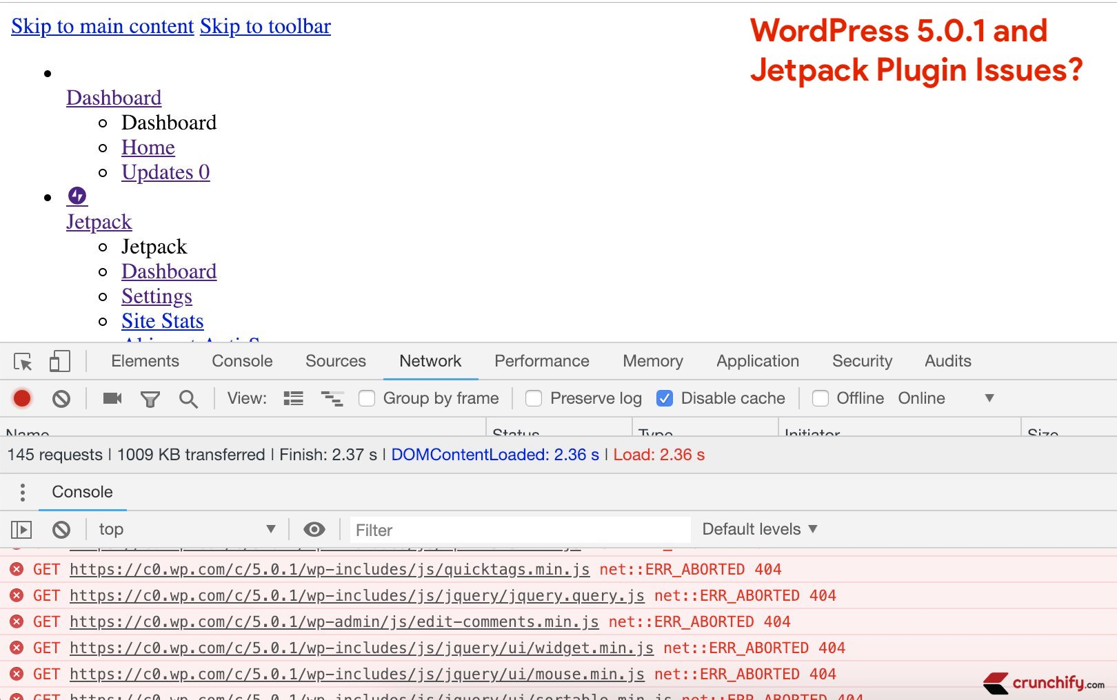 WordPress 5.0.1 and Plugin Issues