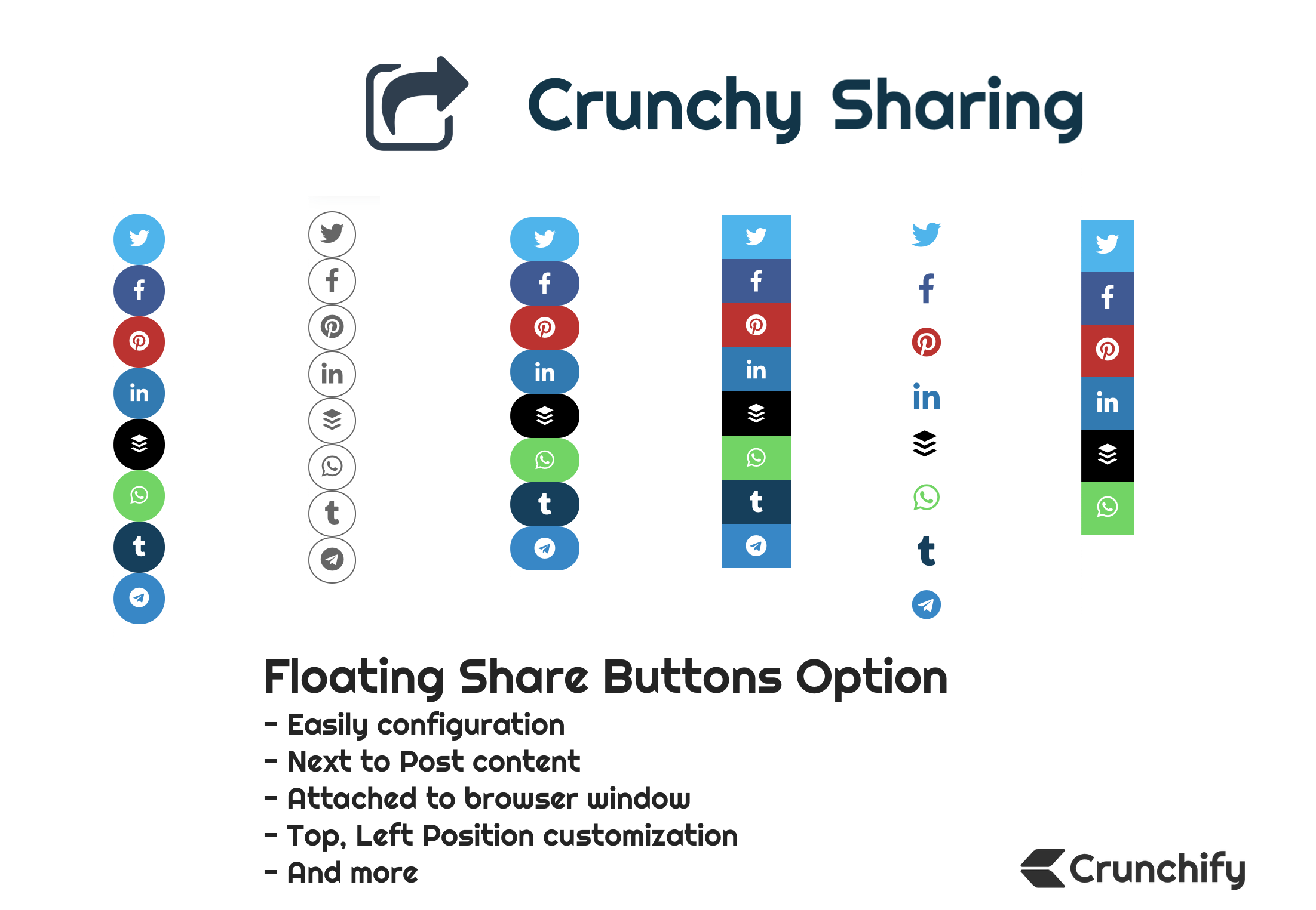 Crunchy Sharing Floating Options