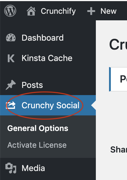 Crunchy Sharing WordPress Plugin - Buttons