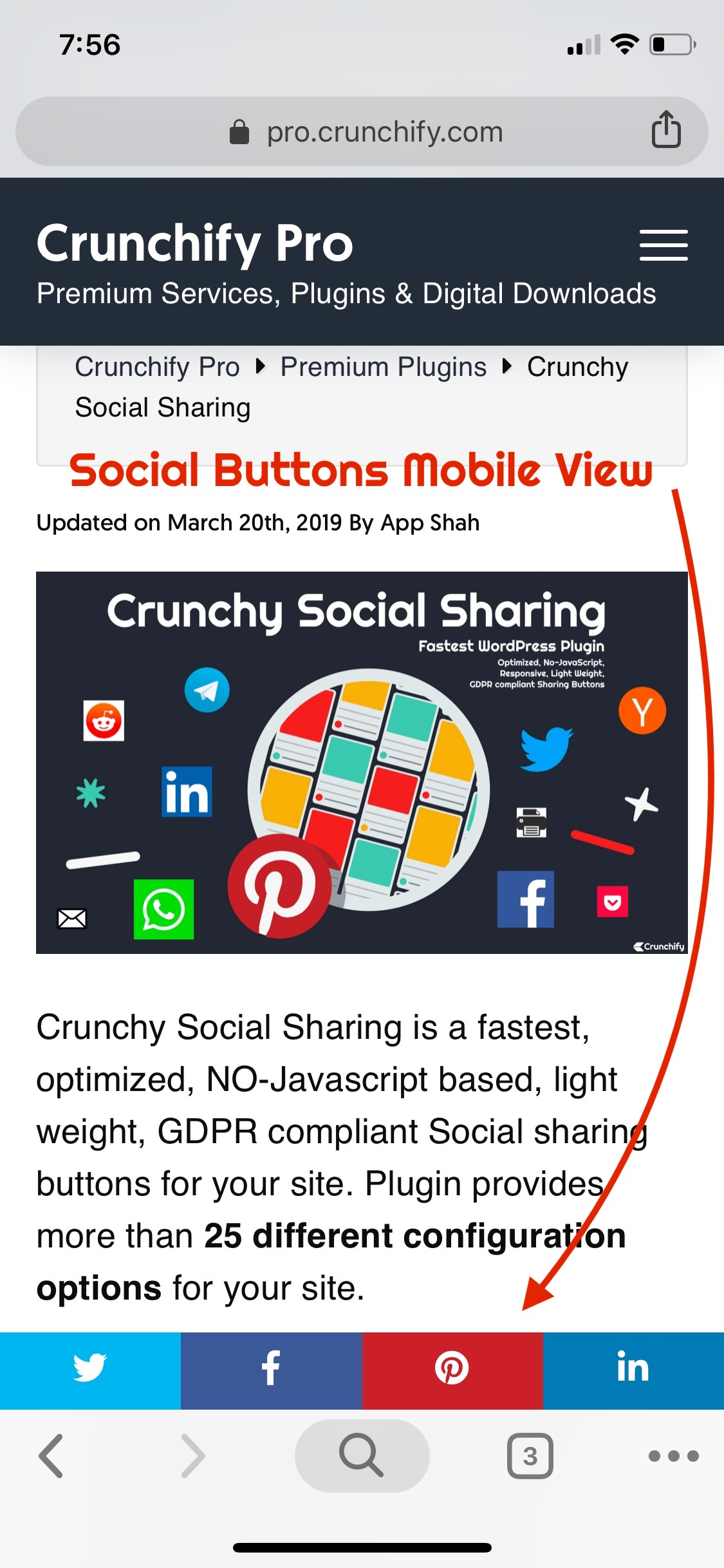 Crunchy Sharing - iPhoneX - Mobile Layout