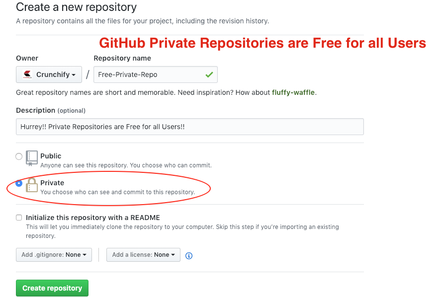 GitHub Private Repositories are Free for all Users
