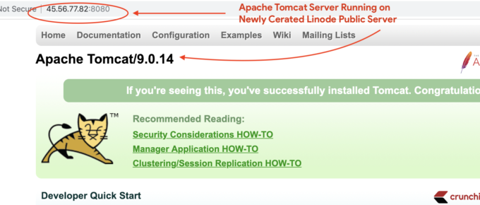Host Apache Tomcat Server on Linode Public Server