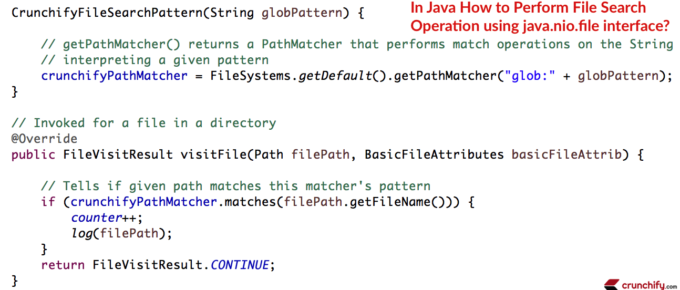 How to Perform File Search Operation using java.nio.file interface - Crunchify Tips