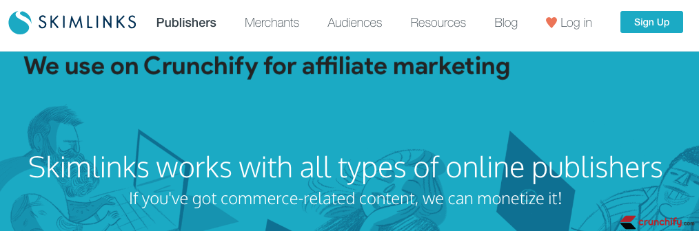 Skimlinks - we use on Crunchify for affiliate marketing