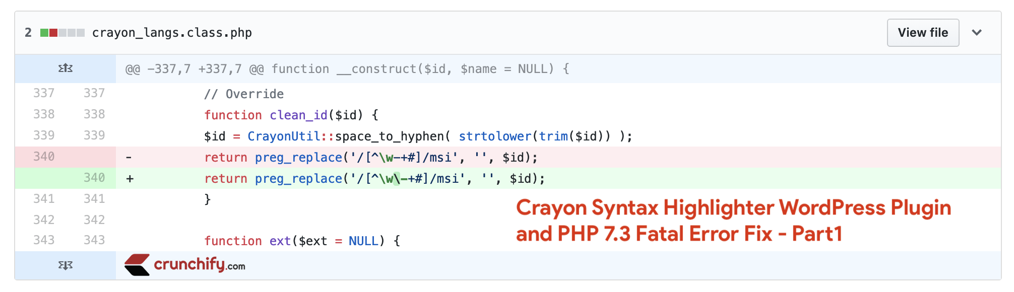 Crayon Syntax Highlighter PHP 7.3 fix - crayon_langs.class.php