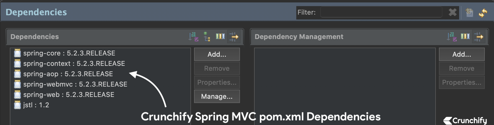 Crunchify Spring MVC pom.xml Dependencies