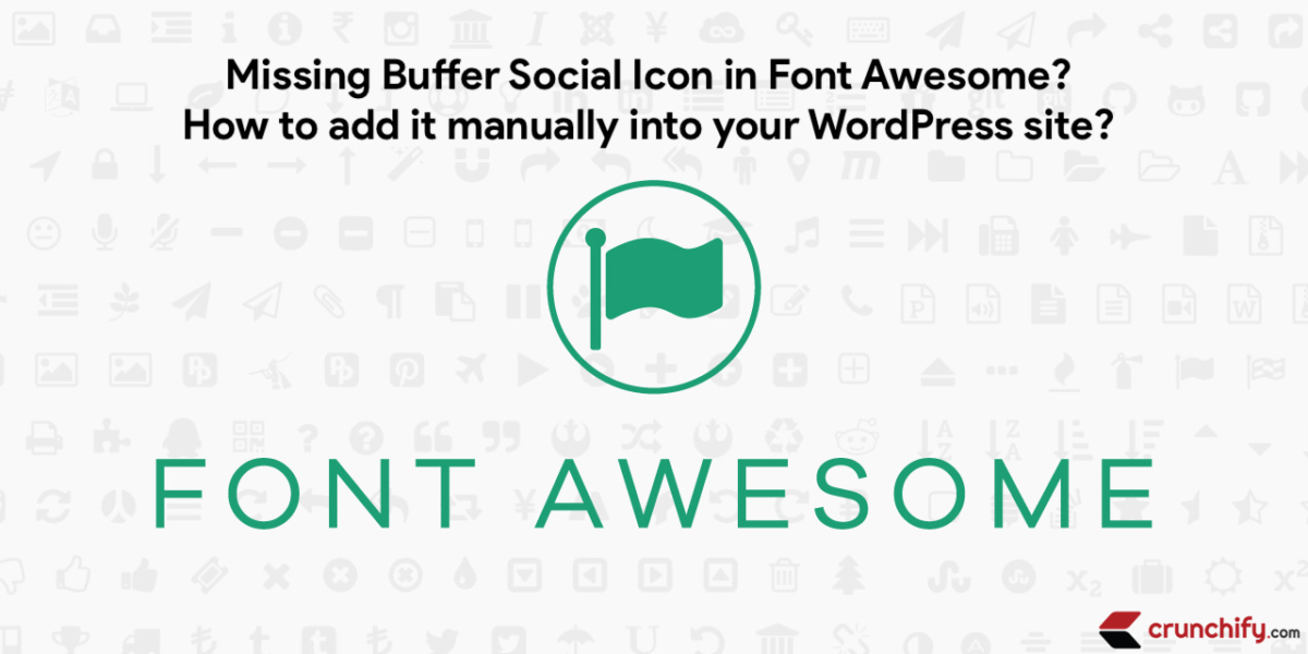Font Awesome and Buffer Social Icon