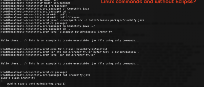 How to create executable Jar file using Linux commands and without Eclipse