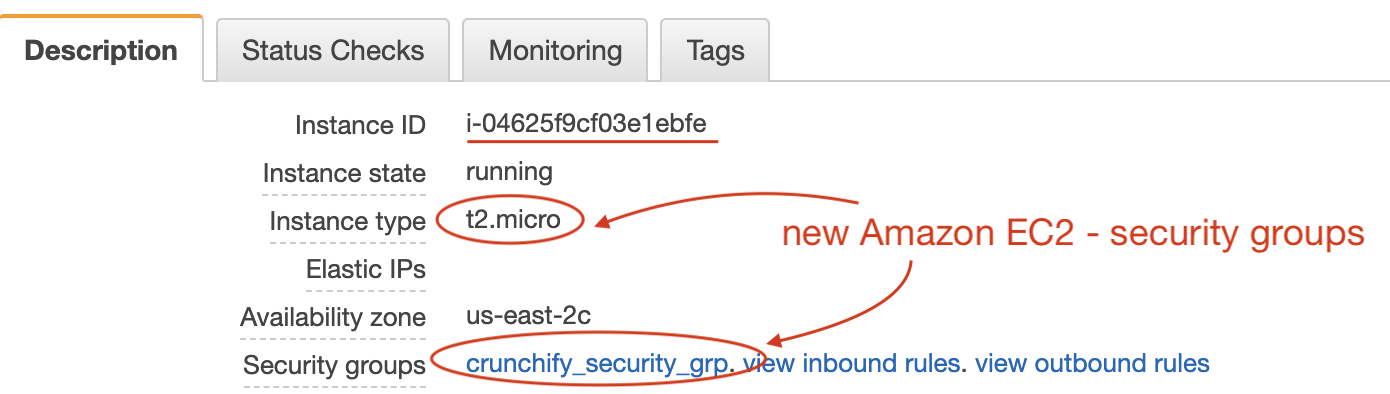Amazon EC2 - new security group and instance type created - Tutorial by Crunchify