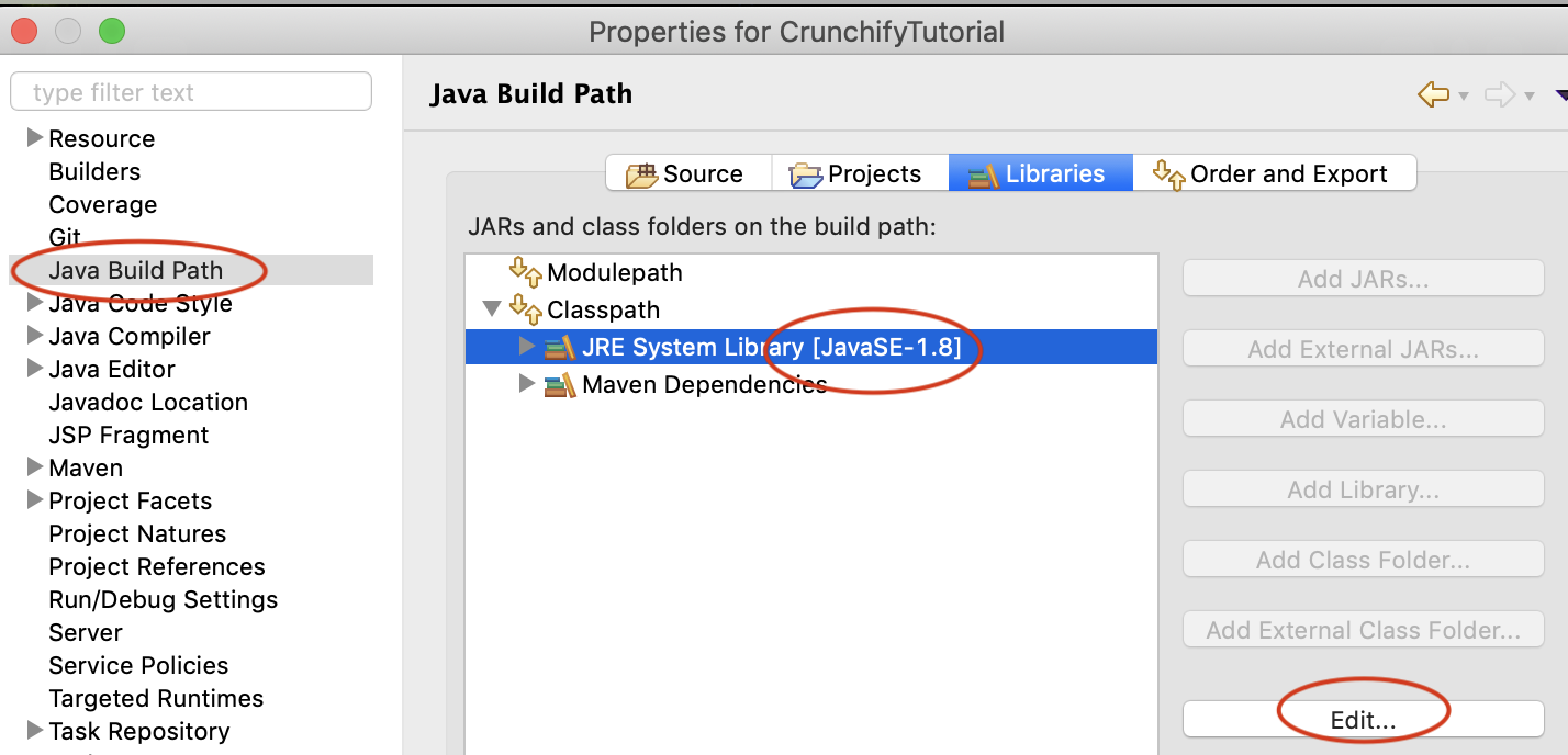 Eclipse Java Build Path, Select Old JRE, Click Edit and change JRE 12