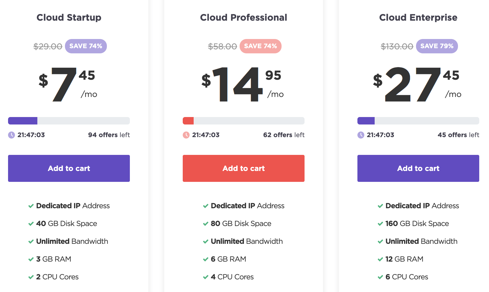 Hostinger Cloud Hosting Plans