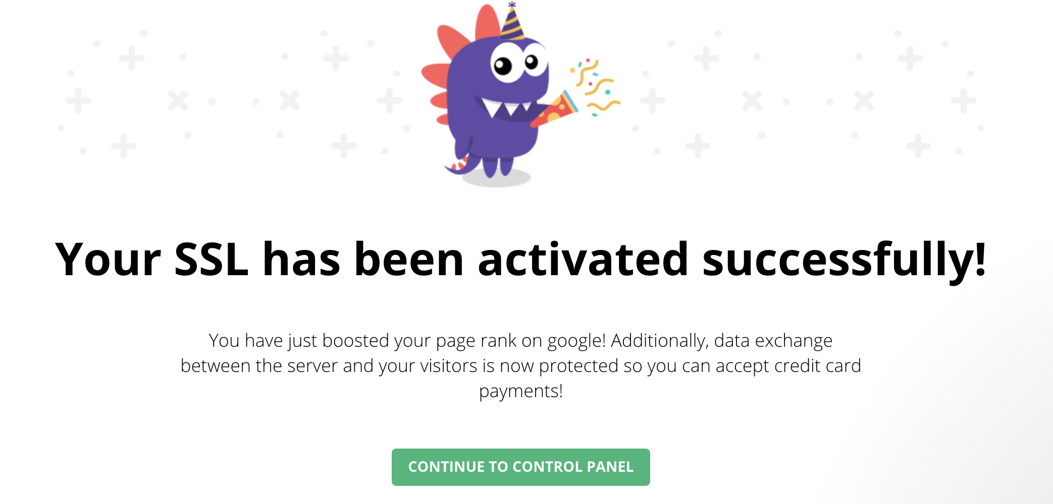 SSL Certificate success activated