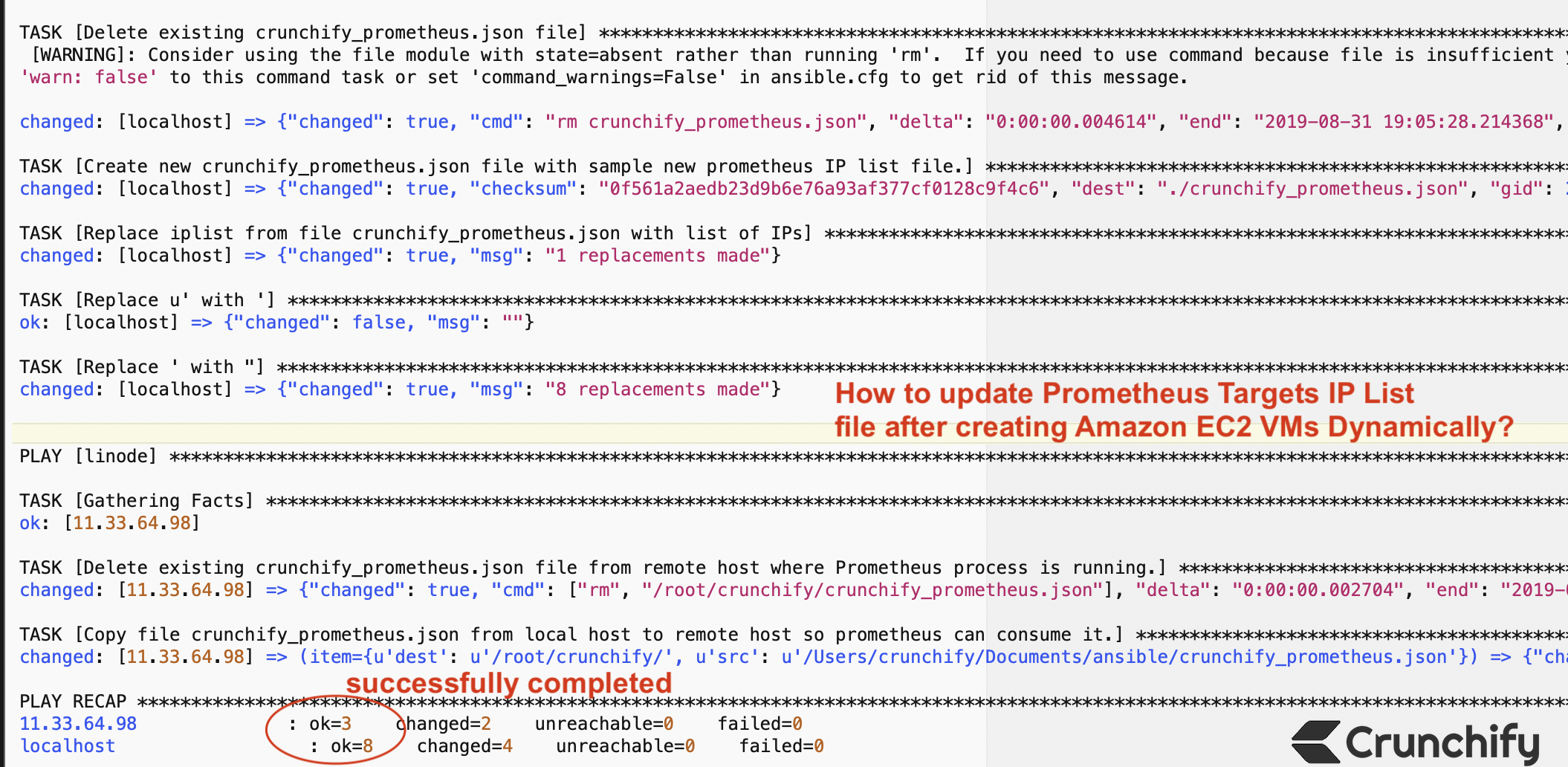 How to update Prometheus Targets IP List file after creating Amazon EC2 VMs Dynamically