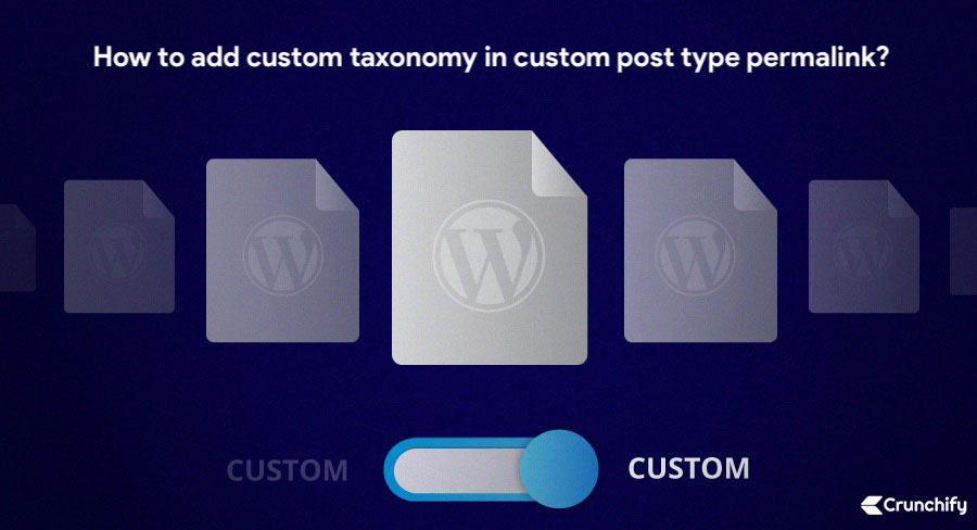 How to add custom taxonomy in custom post type permalink