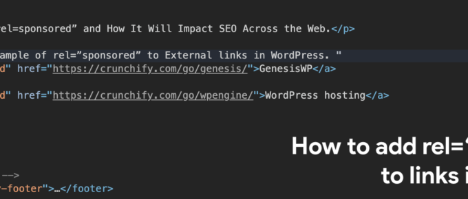 "How to add rel=""sponsored"" to all links in WordPress"