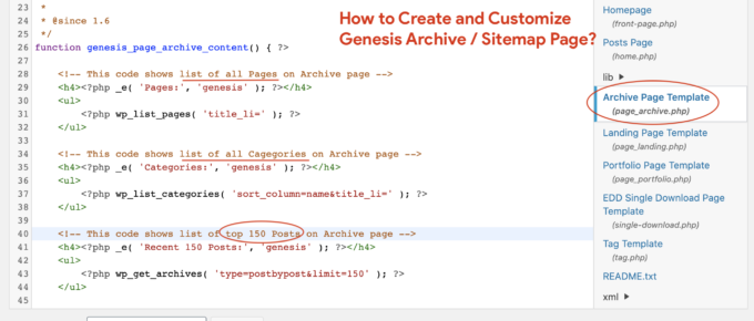 How to Create and Customize Genesis Archive-Sitemap Page