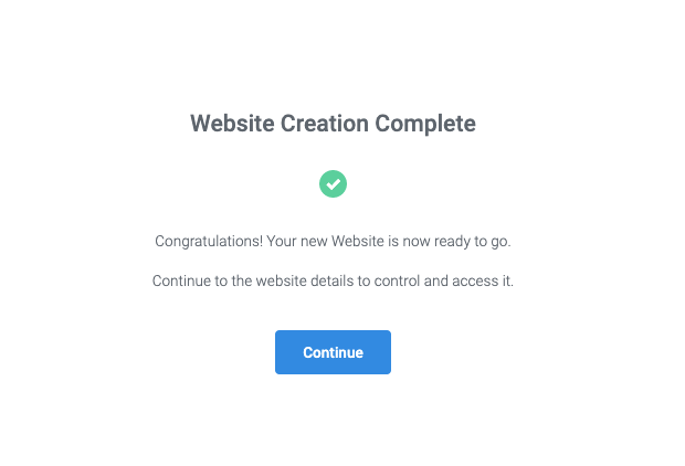 Templ.io - Website creation complete