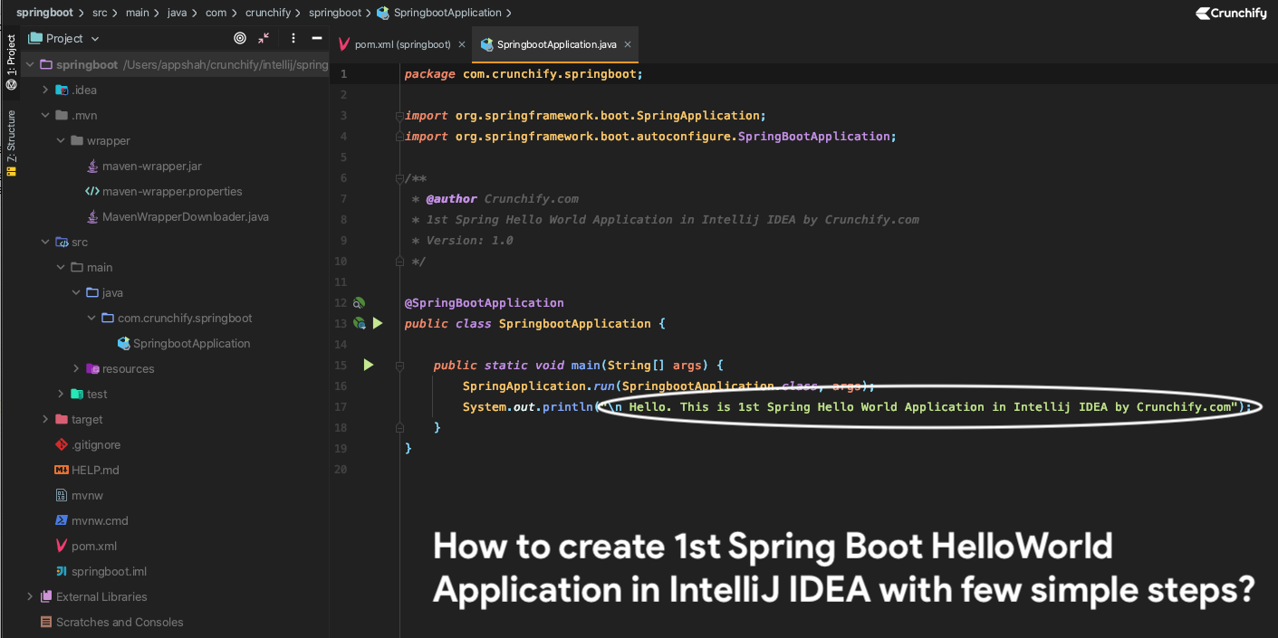 Create 1st Spring Boot HelloWorld Application in IntelliJ IDEA