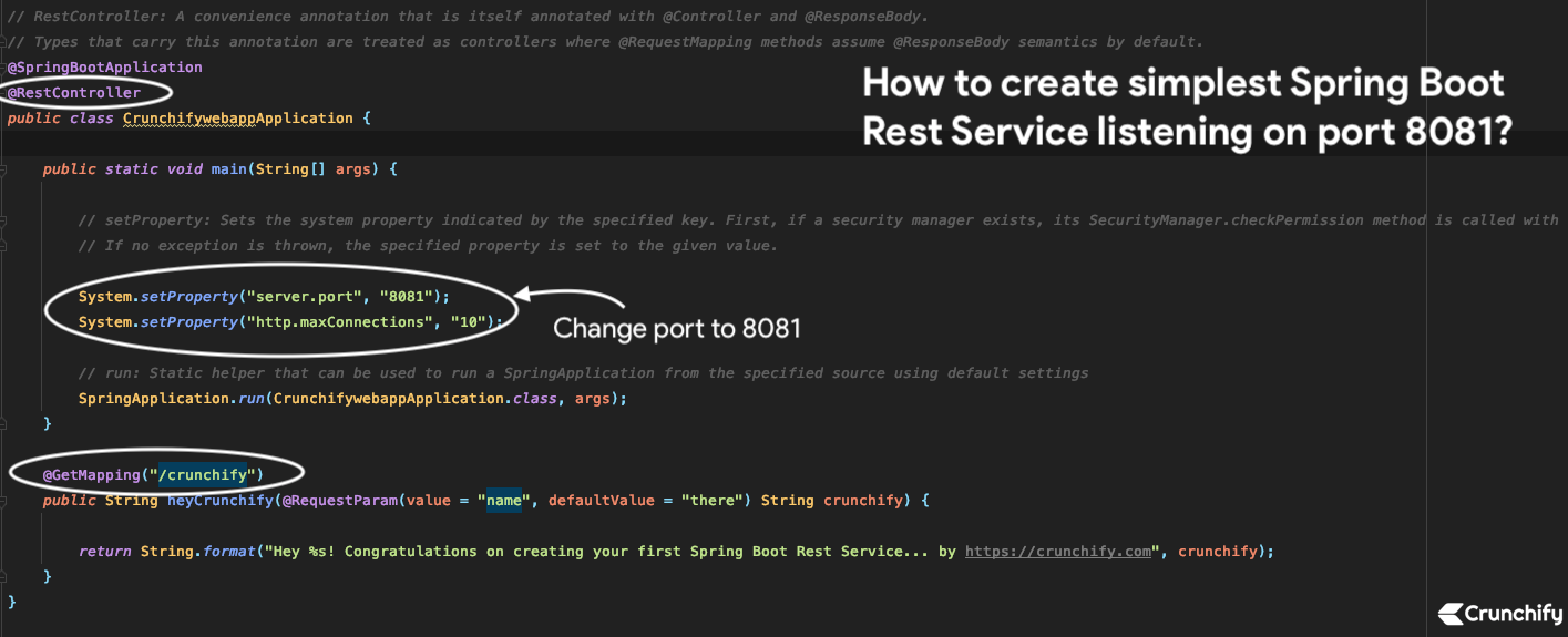 How to create simplest Spring Boot Rest Service listening on port 8081