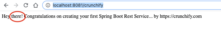 Spring boot test result without URL parameter