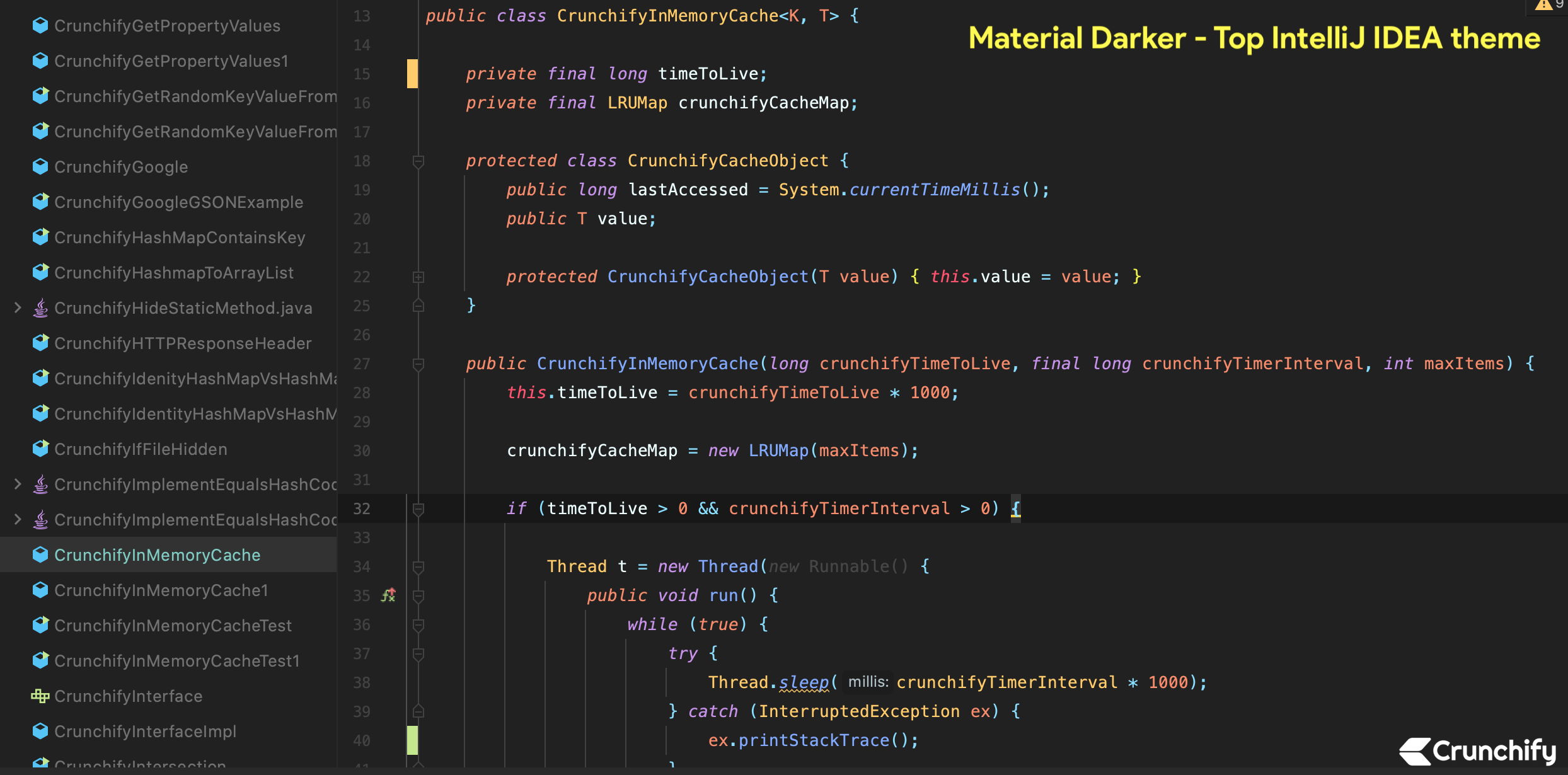 Top IntelliJ IDEA theme - material darker theme