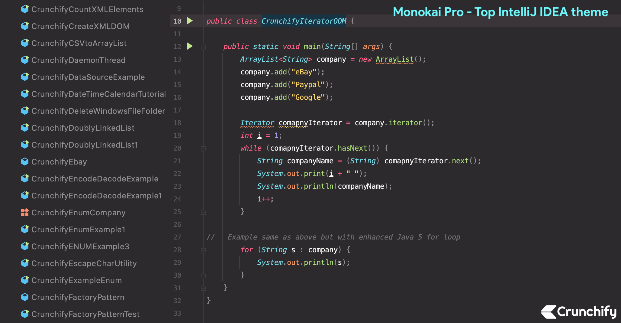 Top IntelliJ IDEA theme - monokai pro theme